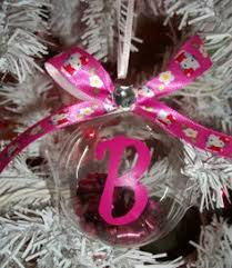6 pack pink glitter hello glass ornament 6 ornaments