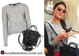 jenner sweater kendall jenner s grey sweater and black bag gray bag and topshop