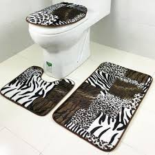Cheetah Print Bathroom Set by Bathroom Leopard Bathroom 9 3 Pcs Set Tiger Font B Leopard B