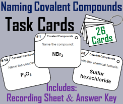naming covalent compounds task cards by sciencespot teaching