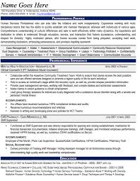Human Services Resume Samples by Career Counselor Resume Samples Professional Counselor