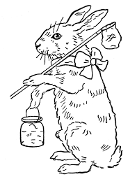 printable coloring easter bunny graphics fairy