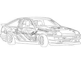 coloring pages drifting cars drawing ae86 d1gp driftworks forum