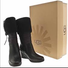 womens ugg leona boots 70 ugg shoes ugg australia leona wedge boots from kimya s
