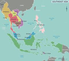 asia map and countries asia map with countries of continent clickable to asian and only