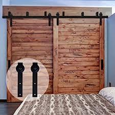 Rustic Closet Doors Ccjh Flat Style Bypass Sliding Barn Wood Closet Door