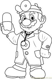 dr mario coloring free super mario coloring pages
