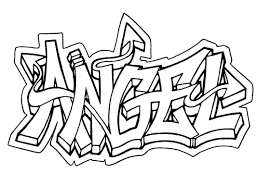 colouring pages of graffiti writing one love
