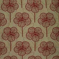 Floral Jacquard Curtains Belfield Furnishings Poppy Red Floral Made To Measure Curtains