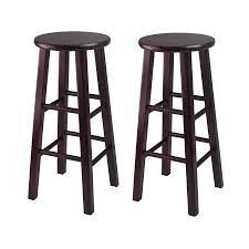 Bar Stools For Kitchen by Amazon Com Winsome Bar Stool With Square Legs 29 Inch Espresso