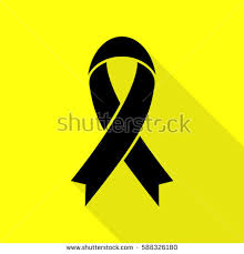 black and yellow ribbon yellow ribbon awareness stock images royalty free images