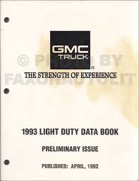 1993 gmc sierra yukon and suburban truck repair shop manual 1500