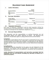 personal loan contract sample 5 loan agreement templates to write