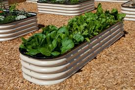 Greenes Fence Raised Beds by Modular Metal Trough Garden Bed Raised Bed Metal Trough And Gardens