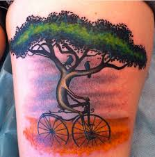 30 strange stunning and sh t cycling tattoos mpora