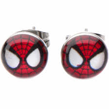 surgical steel stud earrings officially licensed marvel jewelry surgical steel stud