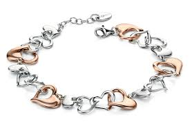 rose silver bracelet images Fiorelli hearts rose gold and silver bracelet my last rolo the jpg