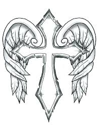 coloring page cross wings coloring page cross 1 pencil and in