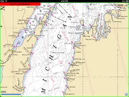 Cities In Michigan Map by Lake Michigan Nautical Map Michigan Map