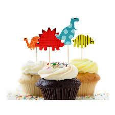 dinosaur wedding cake topper aliexpress buy 48pcs dinosaur cupcake toppers picks