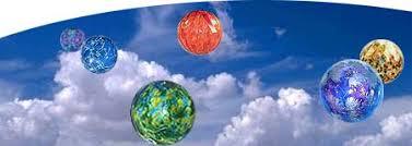 blown decorative glass balls witch gazing and friendship