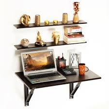 schwartz table hemming folding wall mounted study table with book shelves