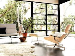 furniture awesome white eames lounge chair replica for modern with