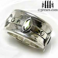 mens silver wedding rings moorish marquise wedding ring 3 rexes jewelry