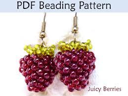 beading tutorial beaded berries earrings jewelry making pattern
