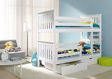 Childrens Bunk Beds With Mattress EBay - White bunk bed with mattress