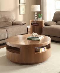 designs by simmons u2013 aquinnan round coffee table set u2013 natural walnut