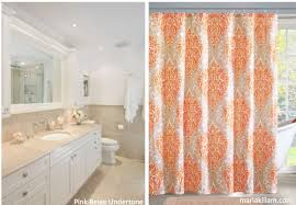 Pink And Orange Shower Curtain There Are 9 Neutral Undertones In The World See Them Here