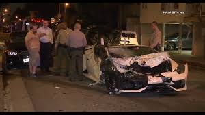 lamborghini smashes into parked cars in west hollywood story kttv