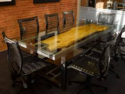 industrial glass dining table glass conference table formal yet stylish furniture with glass top
