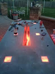 diy concrete table top led concrete table a customer s project