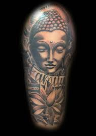 family buddha and lotus design on sleeve tattooshunt com
