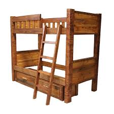 Barnwood Bunk Beds Rustic Reclaimed Barn Wood Bunk Bed