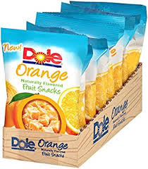 dole fruit snacks dole naturally flavored fruit snacks orange 3 ounce