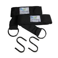 shop vivere set of 2 black hammock tree straps at lowes com