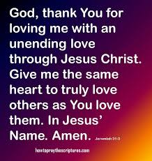 god thank you for loving me