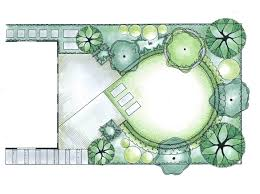 Small Garden Layout Plans Garden Plan Layout With A Diagonal Them Combined With Circles For