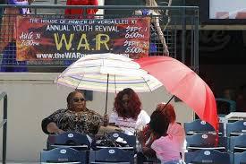 Kentucky travel umbrella images Jesus rally at lexington ballpark calls on god to 39 heal the land