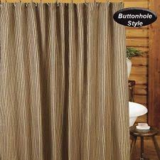 Black Ticking Curtains Country Striped Shower Curtains Ebay