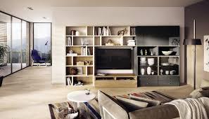 contemporary tv wall unit lacquered wood walnut mega design