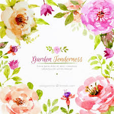 Watercolor Flowers - realistic watercolor flowers background vector free download