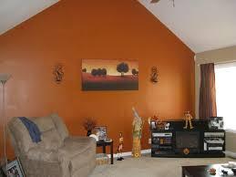 ideal burnt orange painted in burnt orange paint accent wall burnt