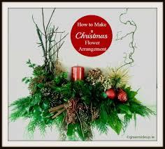 how to make a natural christmas flower arrangementgreenside up