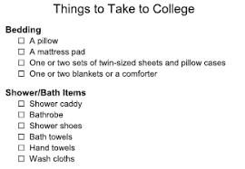 Bathroom Necessities Checklist Things To Take To College Dorm Lovetoknow