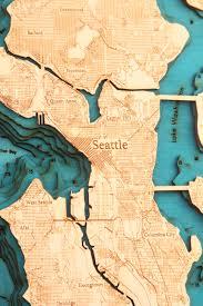 Map Ballard Seattle by Seattle Wa 3d Wood Map U2022 Tahoe Wood Maps