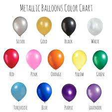 metallic balloons 12 metallic balloons 20 pack mix and match set select your